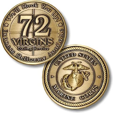 USMC 72 Virgins Bronze Antique by Northwest Territorial Mint