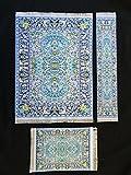 Set Blue Woven Rug Mouse Pad + Rug Coast...