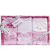 EIO 13 Pcs New Born Baby Gift Set (Pink)- 13 Pieces