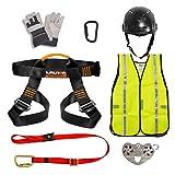 Fusion Climb Pro Backyard Zip Line Kit Geschirr Trageband Trolley Karabiner Helm