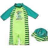 Bambini Tuta costume da bagno ragazzi Protezione UV manica lunga Costumi da bagno UPF 50+ Protezione solare Tuta da bagno Sur