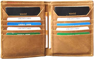 ABYS Genuine Leather Tan Unisex Card Stock  Passport Holder  Travel Wallet  Passport Cover for 2 Passports