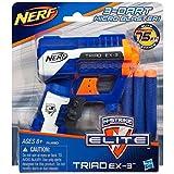 Nerf - Lanzadardos Elite Triad-3, arma de juguete (Hasbro A1690E24)