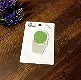 Bestting Creative piccoli Cactus freschi adattatori di convenienza Note Note N Volte inviato Carta personalizzata 6 messaggio caricato con Casuale 12.5 * 8.8cm