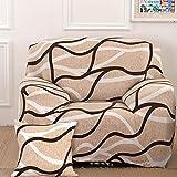 Sofa für 1-Sitzer-Sofa Schonbezug Stretch Elastic Pet Dog Polyester-Couch Displayschutzfolie-Soft Couch Cover Floral Print Bettüberwurf, Wave, 1 seater