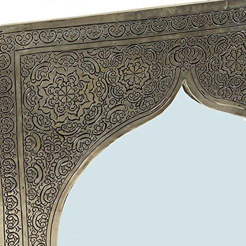Orientalischer Messingspiegel Wandspiegel Spiegel in Messing Assiya Silber