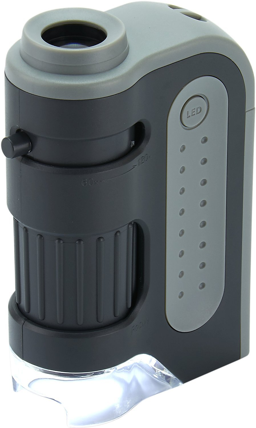 Carson MicroBrite Plus 60 -120x LED Lighted Pocket Microscope