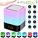 egl bluetooth touch lamp speaker with clock alarm