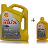1x5 + 1x1 liter Shell Helix HX6 10W-40 motorolie