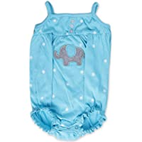 Cherry Blossom Teddy Printed Infant Onesies/Bodysuit/Rompers Newborn Baby's Bodysuits/Blue, Small / 0-3 Months