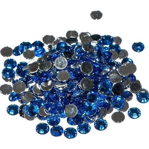 x Sapphire Crystal Flat Back Rhinestone Diamante Gems 4mm by Busy Bead
