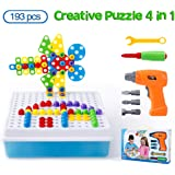 6e23a45fabf4cb Cytop Mosaik Steckspiel DIY 3D Puzzle Spielzeug Bausteine Schraube  Konstruktionsspielzeug Montage Intelligenz Geschenke mit Elektro-