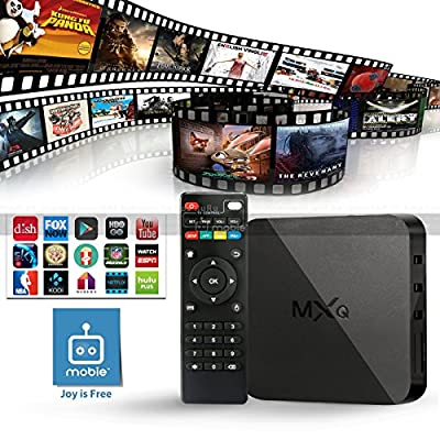 Mobie MXQ Quad Core Speed Android TV Box KODI XBMC Sports Movies Free Streaming Plug N Play, Android 4.4 Kitkat, CPU Amlogic S805, 1.5 GHz