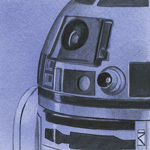 """Star Wars \""""R2-D2 Sketch, 30 x 30 cm, Leinwanddruck"""