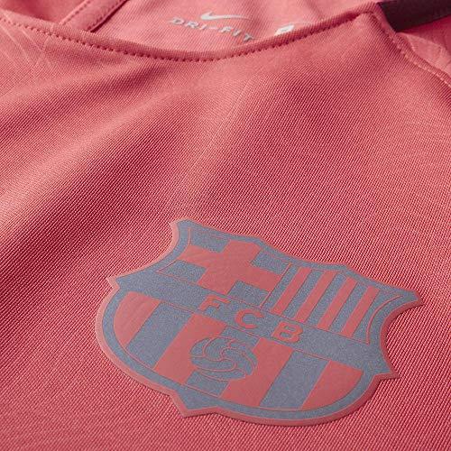 Nike Herren FC Barcelona Dry Squad T-Shirt, Tropical Pink/Deep Maroon/Reflective Silver, 2XL