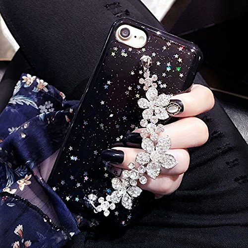Cover iPhone 8 Plus,Cover iPhone 7 Plus,Custodia iPhone 8 Plus / iPhone 7 Plus Cover,ikasus® Diamanti di cristallo lucidi Glitter con bling glitter Reticolo della traversa del diamante custodia iPhone Stella