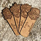 Personalised Wooden Harry Potter Bookmark - Your name engraved with your Hogwarts House