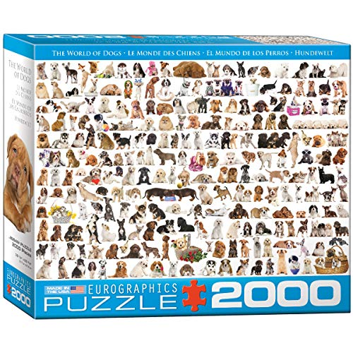 Eurographics The World of Dogs 2000pieza(s) - Rompecabezas (Jigsaw puzzle, Animales, Niños...