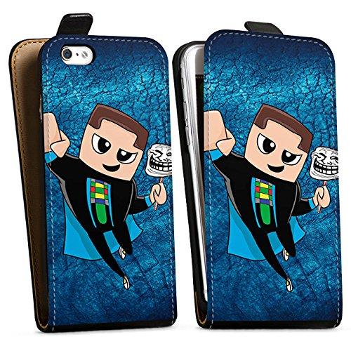 Apple iPhone X Silikon Hülle Case Schutzhülle GommeHD Fanartikel Merchandise Youtuber Downflip Tasche schwarz