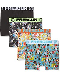 Freegun X4, Boxer Homme, (lot de 4)