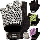 C.P. Sports Fitness Handschuhe Klassik, Fitnesshandschuhe, Trainingshandschuhe, Bodybuilding Handschuhe mit Frottee Daumen