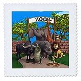 3drose QS _ 164104_ 2Tiere im Zoo Quilt Platz, 6von 6