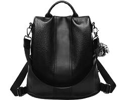 shepretty Damen Rucksack Anti Diebstahl Umhängetasche Schultaschen, 12911Schwarz