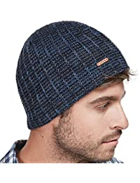 e2692c6ed65 LETHMIK Knit Skull Beanie Cap Winter Warm Daily Hat with Mix Mesh Knitted  Navy