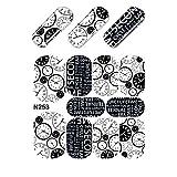 EveKa - Wasser Transfer Sticker für die Fingernägel - Aufkleber N253