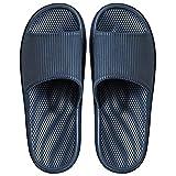 Zapatillas de Estar por casa de Hombre y Mujer, Tira Ancha, Sandalia Tipo Chancla con función de Masaje Verano, Azul Marino (Masajear el Arco del pie), 44/45 EU (290mm)
