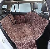 Zll Dog Seat Cover Pet Car Cover Seat Cover Cover mit Side Flaps Hängematte für Rückenzubehör für Back Seat Scratch Prloof rutschbar für Autos LKW und SUVs mit Sicherheits-Schnallen,Coffee