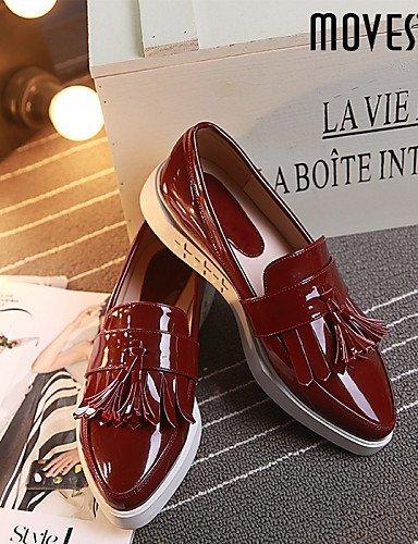 ShangYi gyht Scarpe Donna - Scarpe col tacco / Ballerine - Tempo libero / Ufficio e lavoro / Formale / Casual - Comoda / A punta - Piatto - Vernice - Black