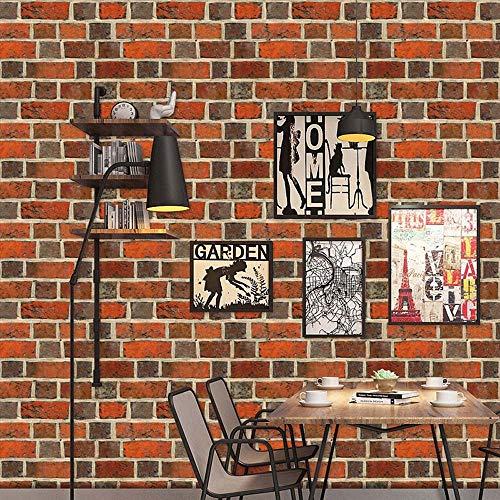 TianranRT Simulation Backstein Stein rustikal Wirkung selbstklebend Wand Aufkleber Zuhause Dekor B (B) -