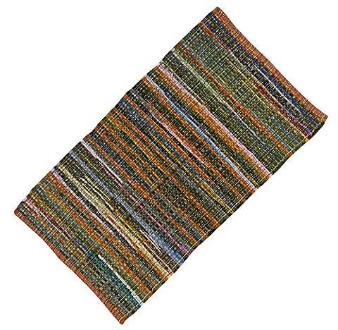 "Main Runner Striped Cotton Chindi Tapis De Sol Tissé Throw Rag Dari Recyclé Tapis 50 ""X 28"" Pouces"