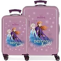 Disney Frozen Die Eiskönigin Destiny awaits Kofferset Violett 55/64 cms Hartschalen ABS Kombinationsschloss 93L 4…