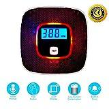 MAGIFIRE Kohlenmonoxid-Detektor mit Sprachwarnung, batteriebetriebener CO-Alarm mit LCD-Digitalanzeige, Alarmsignal (Schwarz)