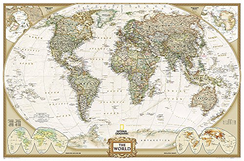 Laminiert Atlas (Executive Weltkarte, politisch, Grossformat, laminiert: 1:22445000: PP.NGW622086 (National Geographic Reference Map))