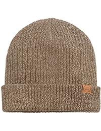 Ryan Double Layer Beanie Hat (Navy/Khaki/Stone)