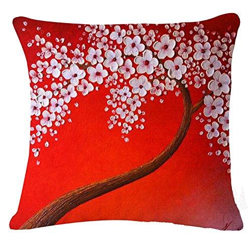 elviros-peinture-a-lhuile-coton-lin-blend-decoratif-housse-de-coussin-45x45-cm-18x18-fleurs-et-arbre