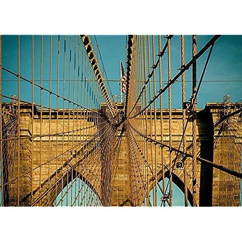 Piatnik 5463 - Brooklyn Bridge - puzzle 1000 pezzi - 22 Angle Pezzo