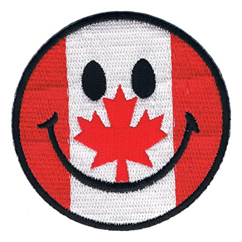 Lucky Patches Logo Aufnäher/Iron on Patch Smilie (Canada)