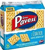 Gran Pavesi - Cracker a Ridotto Contenuto di Sale, 18 Porzioni - 560 g