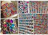 CRYSTAL KING Glitzersteine Set aus 3000 Stück selbstklebenden Strasssteine/Acrylsteine selbstklebend rund bunt Gltzersteine Schmucksteine Strass Steine Acryl Steinchen