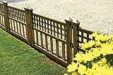 Greenhurst Pack of Four Plastic Fence Panels in Bronze