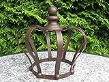 Gartenkrone Pflanzkrone *Rankhilfe Krone* Deko-Krone Eisen dunkelrostfarben, 26 cm