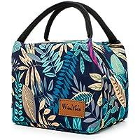 Winmax - Bolsa de almuerzo con aislamiento reutilizable, portátil e impermeable, Leaves Pattern