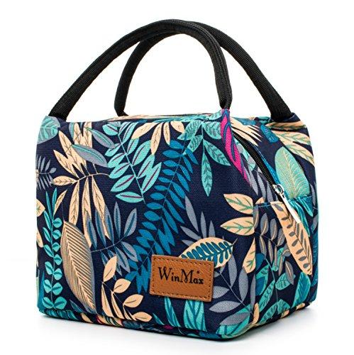 Winmax borsa per il pranzo, borsa a secchiello riutilizzabile, portatile e impermeabile