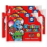 Küchle Knabber Esspapier rot Erdbeer Geschmack 25g Essoblaten (4er Pack)