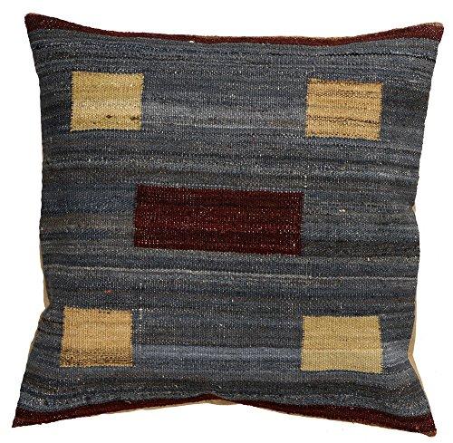 Vente, faite à la main authentique Kilim Housse de coussin Taie d'oreiller style vintage, 58 cm x 58 cm/55,9 cm/55,9 cm (1351), cadeau de Noël et nouvel an Guide