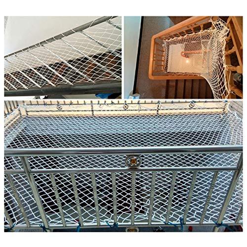 terrazza reticolato/net per bambini rete a maglie per windows reti a traliccio per coltivare tende robusto per la scuola materna di festa decorazione 6mm/5cm bianco (size : 3x5m)